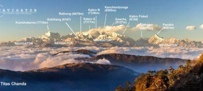 Kanchendzonga from Tiger Hill Darjeeling